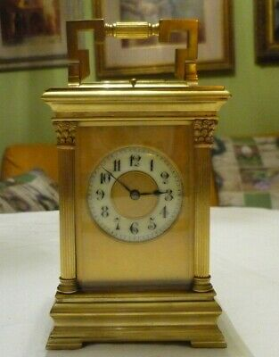 ANTIQUE  SEMI GIANT FRENCH  REPEATER CARRIAGE CLOCK by ARSENE MARGAINE 12