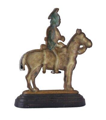 Vintage Soldier & Horse Door Stop Porter. Antique Brass Doorstop Figure Ornament 3