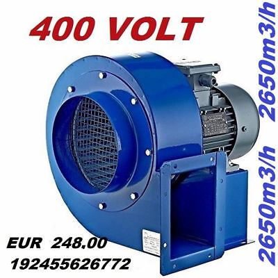 Extracteur d'air Industriel Radial VENTILATEUR CENTRIFUGE Aspiration ventilation 7