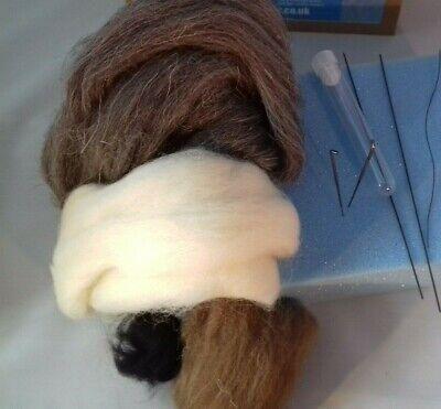 Large Hare British Rare Breed wool needle felt kit WULYDERMY 2
