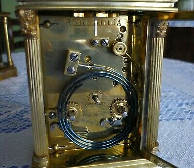 ANTIQUE  SEMI GIANT FRENCH  REPEATER CARRIAGE CLOCK by ARSENE MARGAINE 7