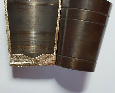 """5 x SOLID BRASS WALKING STICK """"ULTRA"""" FERRULES 17.5mm - 25mm with 4mm THICK BASE"""