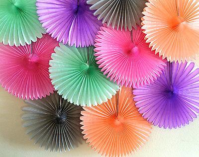 Tissue Paper Fans Pom Poms Wedding Party Baby Lantern Home Room Decor AU Stock 3