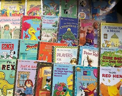 Little Golden Books Lot of 10 Unsorted Mixed Titles 2
