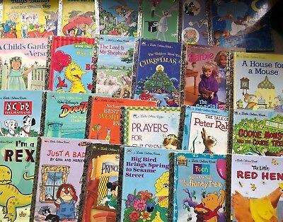 Lot of 20 Little Golden Books Unsorted Homeschool Teachers Library Kids Bundle 2