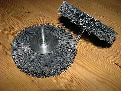 5x Schleifbürste D 100 x10 Schaft 6mm Silizumcarbid SiC K180 Schleifnylon U=4500