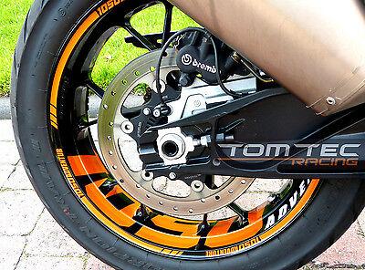 Sticker Wheel Rim Stickers KTM 1050 Adventure S /& 1090 1290 Super Adventure S