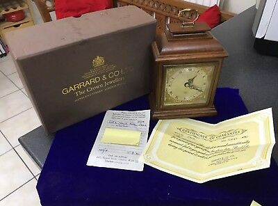 Vintage Garrard & Co Ltd London Elliot Mahogany 8 Day Oak Mantle Carriage Clock 11