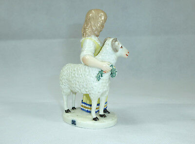 Seltene Porzellanfigur Figur Ludwigsburg 18 Jh. Ziege