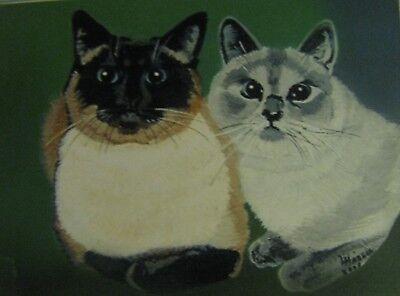 "C179  Original Acrylic Painting By Ljh  ""Teddy ""  British Shorthair  Cat  Kitten 2"