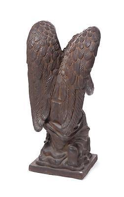 CAST GARDEN FIGURE OF KNEELING ANGEL. Lot 1247 2