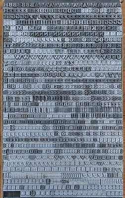 Bleischrift 6,5 mm Bleisatz Buchdruck Handsatz Lettern Alphabet Letter Druck 2