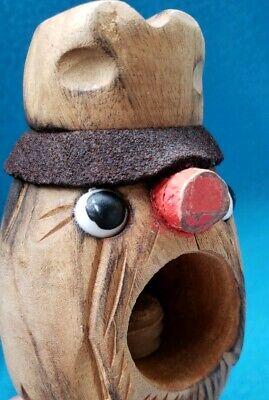 Vintage Black Forest Tyrolean Carved Wooden Screw Nutcracker Wood Nut Cracker 11