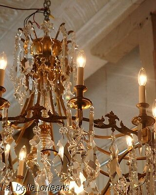 French Crystal Chandelier 15 Lights. 5 Ft Tall , Must See!! 4