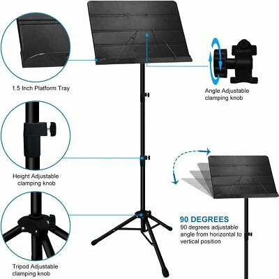 Music Stand, Professional Sheet Music Stand with Clip Holder, Carrying Bag 4