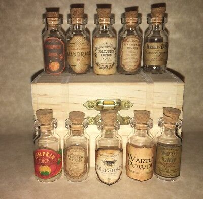 """LABELS ONLY 1"""" &Less Halloween Apothecary Potion Bottles Harry Potter Party Prop 2"""