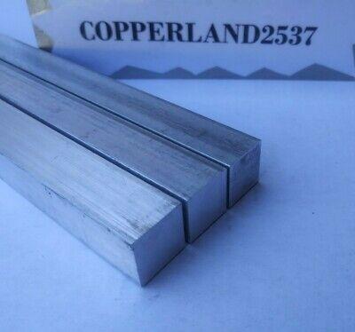 """3 pc 1/2 X 1/2"""" X 12"""" long new 6061 T6 solid aluminum plate flat stock bar block 2"""