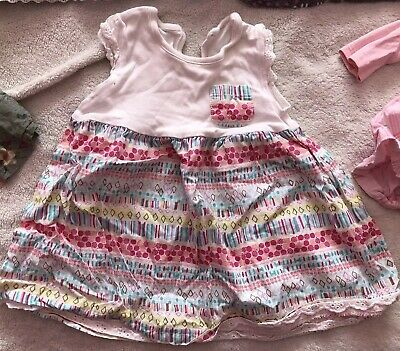 Beautiful Bundle Of Baby Girls Dresses Age 6-9 Months Inc. Next, F&F, George 5