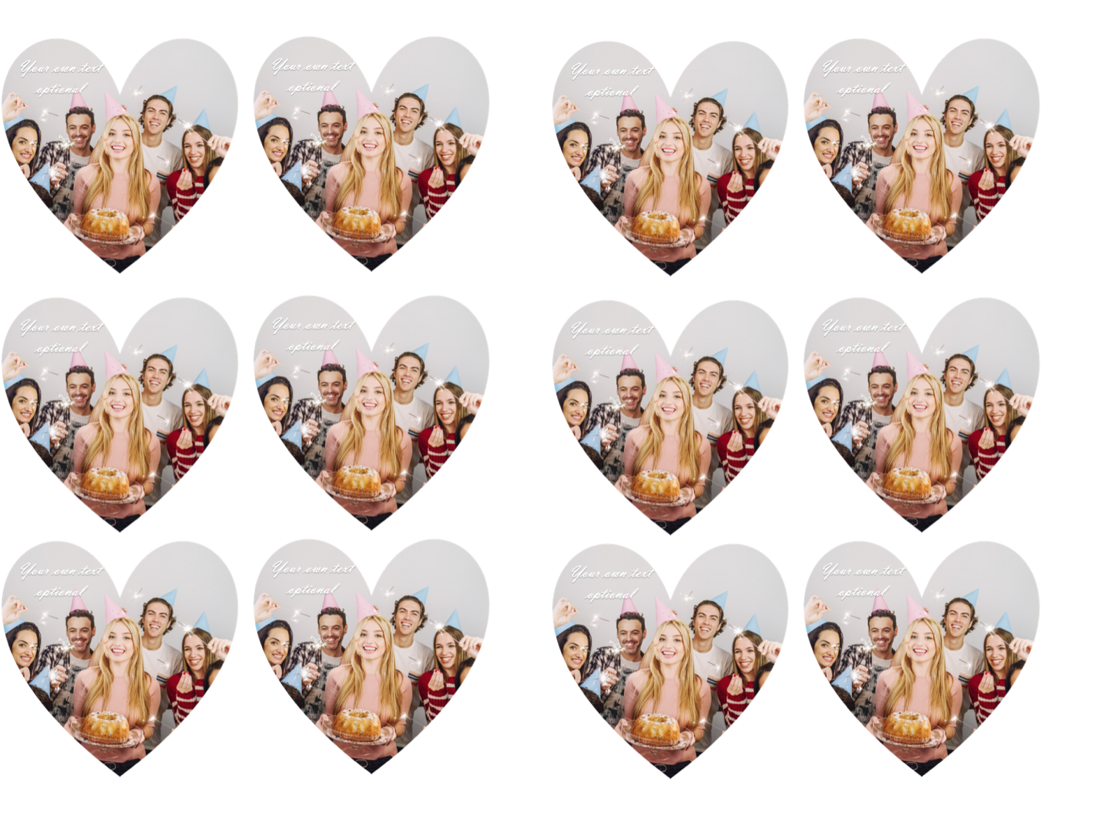 YOUR OWN EDIBLE PHOTO cupcake toppers ANY personalised image ICING OR WAFER 7