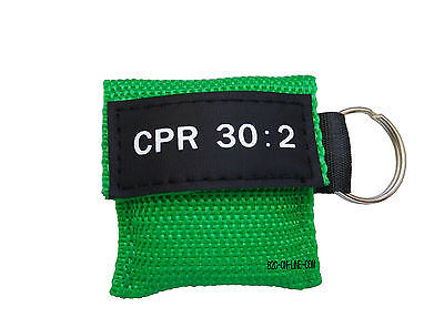 100 Cpr Mask Keychain Cpr Face Shield  Aed Green Writing Cpr 30:2 4