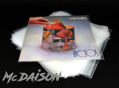 McDAISON - 50 Buste per dischi vinile records LP in Polietilene spessore 120my 3