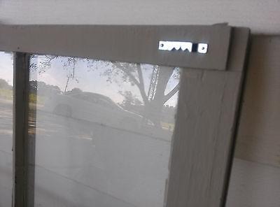 Old Vintage Unique Antique Window Frame 6 Pane Sash 32X28 Painted Gray 5
