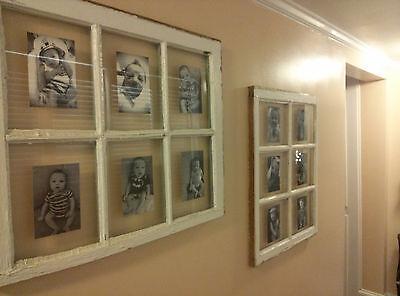 SASH ANTIQUE WOOD WINDOW PICTURE FRAME PINTEREST WEDDING 6 PANE NO GLASS 34x31 3