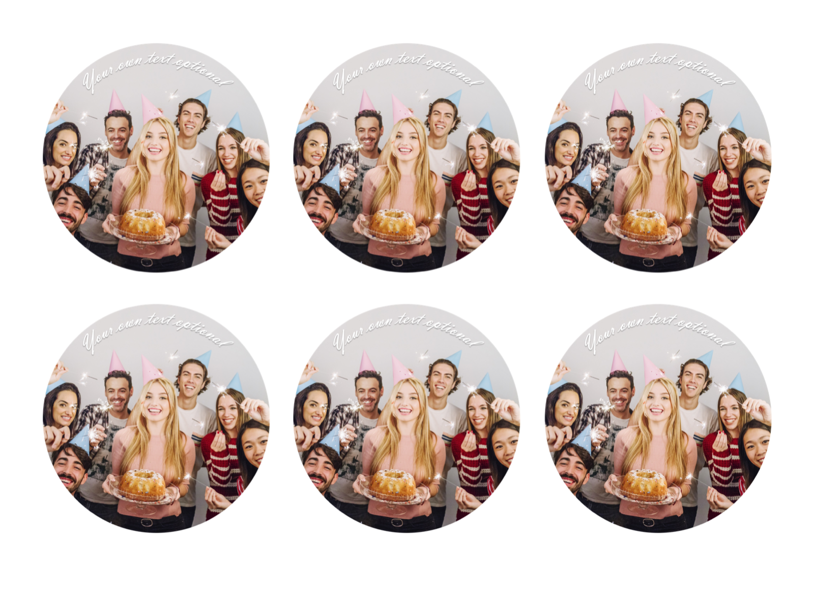 YOUR OWN EDIBLE PHOTO cupcake toppers ANY personalised image ICING OR WAFER 11