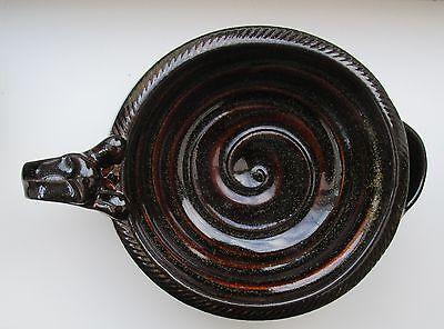 Shaving Scuttle Bowl Medium #1 Teak Hand Made/Crafted - Steve Woodhead Ceramics 2