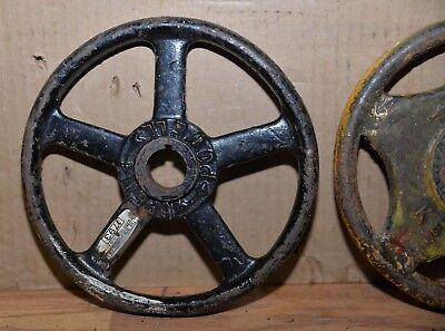 "2 Kennedy valve & Powell hand wheel industrial 8"" diameter steam punk HW3 2"