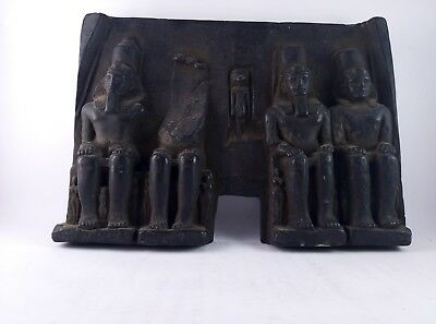 RARE ANCIENT EGYPTIAN ANTIQUE stone Abu Simbel Temple black Symbols Bc 5