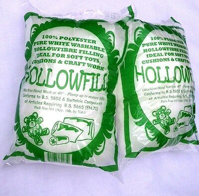 Soft Toy Filling for Craft, Hobby, Cushions etc. Supersoft Virgin Hollowfibre. 3