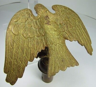Antique Bronze EAGLE Finial Gold Gilt ornate detail old architectural hardware 10