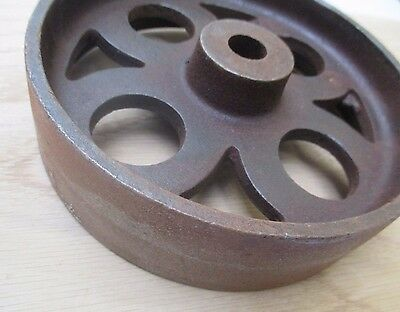 """6""""/150MM Cast iron vintage old industrial AXLE WHEEL antique rustic iron 2"""