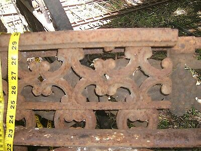 Antique Iron fence  panel Victorian Ornate 1880 5