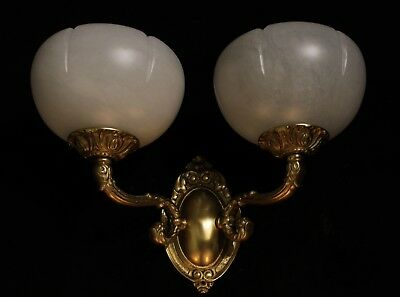 Alabaster wall lights sconces solid  double arms bronze by europeanlighting 8