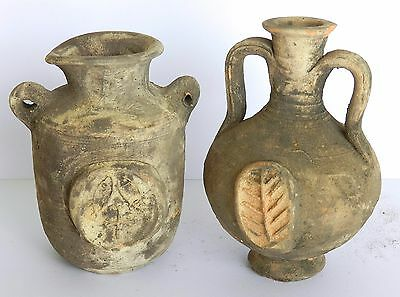Biblical Ancient Antique Holy Land Roman Herodian Pottery Clay Wine Jugs Pitcher 5