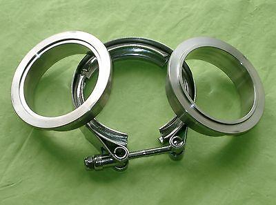 Burstflow V Band Schelle 63,5mm 2,5 Zoll + 2 Anschweissringe Zentrierringe Turbo