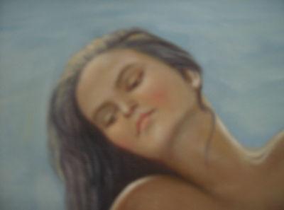 ,,Nude am Strand´´ Ölgemälde Öl auf Leinwand 60x50 cm Gemälde 3