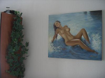 ,,Nude am Strand´´ Ölgemälde Öl auf Leinwand 60x50 cm Gemälde 8