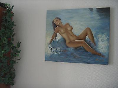 ,,Nude am Strand´´ Ölgemälde Öl auf Leinwand 60x50 cm Gemälde 2
