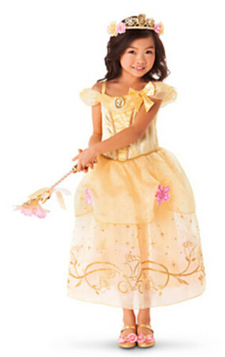 Mädchen Prinzessin Kostüm Kinder Aurora Rapunzel Cinderella Karneval Party Kleid 11