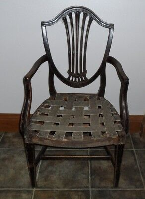 Antique Hepplewhite Carver Style Dining Chair Project 2