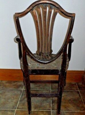 Antique Hepplewhite Carver Style Dining Chair Project 10