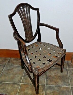 Antique Hepplewhite Carver Style Dining Chair Project 3