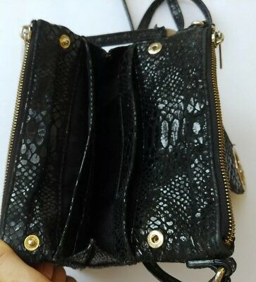 fb789315b442 MICHAEL KORS FULTON Python-Embossed Crossbody Bag, Black - $44.95 ...