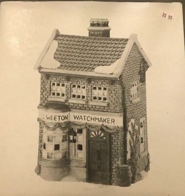 "Dept. 56 ~ Dickens Village ~ ""Geo Weeton Watchmaker"" (1988) ~ Mint In Box 2"