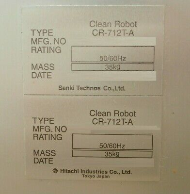 Sanki Technos CR-712T-A Wafer Transfer Clean Robot Hitachi Lot of 3 As-Is 12
