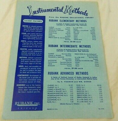 Rubank Elementary Method Clarinet Learn to Play Clarinet Vintage Library No 34 6