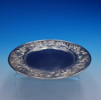 """Repousse by Kirk Sterling Silver Bread and Butter Plate #127 6"""" Diameter (#3299) 2"""